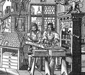German printing press
